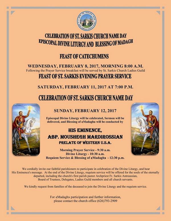 <!--:--><!--:en-->St. Sarkis Church Name Day Celebration<!--:--><!--:hy-->Ս. Սարգիս Եկեղեցւոյ Անուանակոչութեան Տօն<!--:--> @ St. Sarkis Church | Pasadena | California | United States