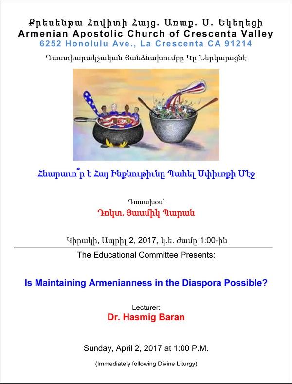 Crescenta Lecture - April
