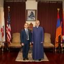 Prelate Welcomes Glendale City Council Member Zareh Sinanyan