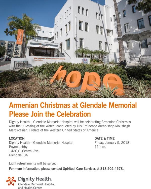 [:en]Blessing of Water at Glendale Memorial Hospital[:hy]Ջրօրհնէք Կլենտէյլի «Memorial» Հիւանդանոցին Մէջ[:] @ Glendale Memorial Hospital Payne Lobby | Glendale | California | United States