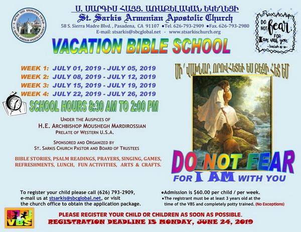 [:en]Vacation Bible School – Pasadena[:hy]Ամառնային Ս. Գրային Դպրոց - Փասատինա[:] @ St. Sarkis Church | Pasadena | California | United States