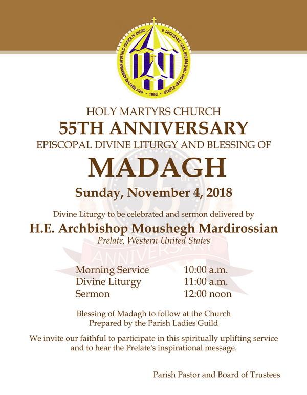 [:en]Holy Martyrs Church of Encino 55th Anniversary Episcopal Divine Liturgy & Madagh Blessing[:hy]Էնսինոյի Ս. Նահատակաց Եկեղեցւոյ 55-ամեակի Եպիսկոպոսական Ս. Պատարագ եւ Մատաղօրհնէք[:] @ Holy Martyrs Church | Los Angeles | California | United States