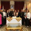 """""""St. Mesrob Mashdots"""" Medal Awarded to Writer Vehanoush Tekian on Behalf of His Holiness Catholicos Aram I"""
