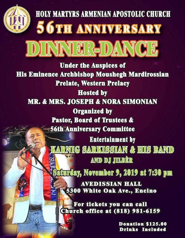 [:en]Holy Martyrs Church 56th Anniversary Banquet[:hy]Ս. Նահատակաց Եկեղեցւոյ 56-ամեակի Ճաշկերոյթ[:] @ Avedissian Hall