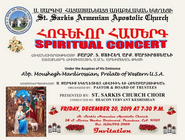 [:en]Spiritual Concert[:hy]Հոգեւոր Համերգ[:] @ St. Sarkis Church