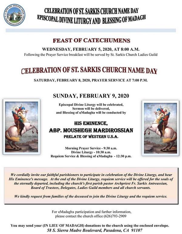 [:en]St. Sarkis Church of Pasadena Name Day Celebration[:hy]Փասատինայի Ս. Սարգիս Եկեղեցւոյ Անուանակոչութեան Տօնախմբութիւն[:] @ St. Sarkis Church