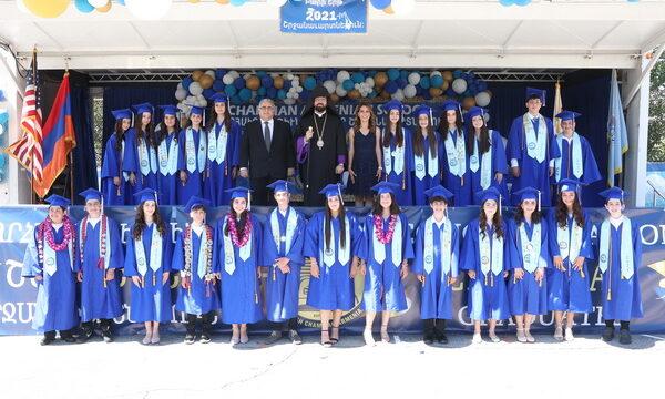 The Prelate Presided Over  Vahan and Anoush Chamlian Armenian School  Graduation Ceremony