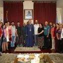 Prelate Welcomes Hamazkayin Sos Sargsyan State Theater Company Members