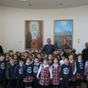 Chamlian School First Graders Visit Prelacy to Convey Christmas Greetings to the Prelate