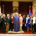 Armenian Bone Marrow Donor Registry Representatives Pay Annual New Year's Visit to the Prelacy
