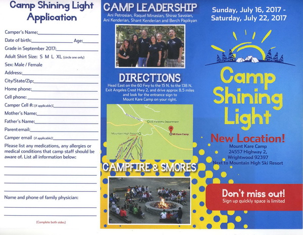 <!--:--><!--:en-->Camp Shining Light<!--:--><!--:hy-->Լուսաշող Ճամբար Բանակում<!--:--> @ Mount Kare Camp | Wrightwood | California | United States