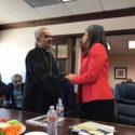Prelate Attends Meeting with Congresswoman Tulsi Gabbard