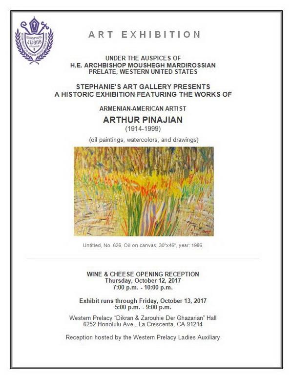 "[:en]Art Exhibition[:hy]Նկարչական Ցուցահանդէս[:] @ Western Prelacy ""Dikran & Zarouhie Der Ghazarian"" Hall | Los Angeles | California | United States"