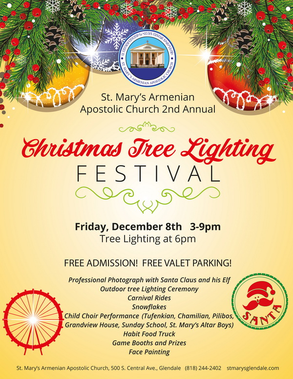 Christmas Tree Lighting Festival @ St. Mary's Church | Glendale | California | United States