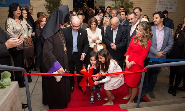 "Prelate Presides over Unveiling of the ""Anita Torosian Literacy and Resource Center"" at Chamlian School"