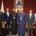 Artsakh Four-Day War Heroes Visit the Prelate