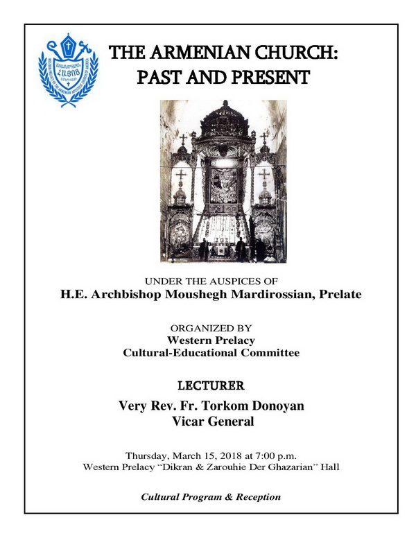 "[:en]The Armenian Church: Past & Present[:hy]Հայ Եկեղեցին Երէկ եւ Այսօր[:] @ Western Prelacy ""Dikran & Zarouhie Der Ghazarian"" Hall | Los Angeles | California | United States"