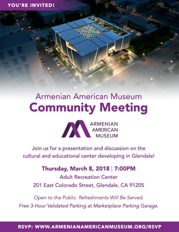 [:en]Armenian American Museum Community Meeting [:hy]Հայ-Ամերիկեան Թանգարանի Հանրային Հաւաք[:] @ Adult Recreation Center | Glendale | California | United States
