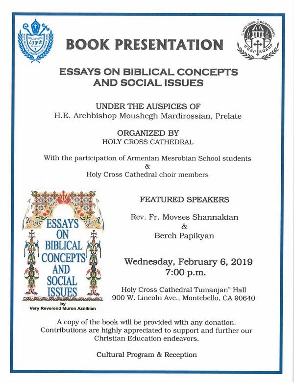 "[:en]Book Presentation[:hy]Ողջունահանդէս[:] @ Holy Cross Cathedral ""Tumanjan"" Hall   Montebello   California   United States"