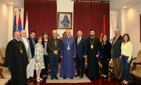 Representatives of Hamazkayin Central Executive and North American Regional Executives Visit the Prelacy