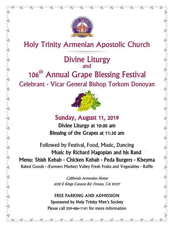 Holy Trinity Church 106th Annual Grape Blessing Festival