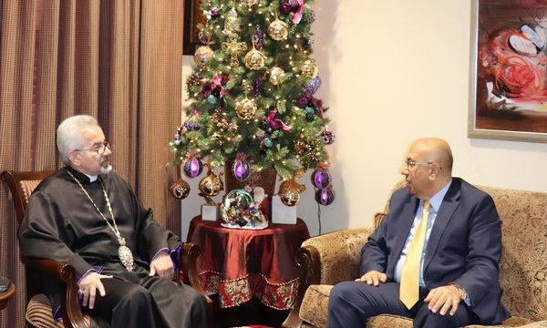 Consul General Dr. Armen Baibourtian Visits the Prelacy