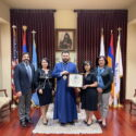 The Prelate Welcomed Representatives from  Mesrobian Armenian School