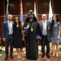 """Bestowing of """"Prince of Cilicia"""" Medal to  Mr. & Mrs.  Garo & Sosse Eshgian – The Couple Generously Donated $100,000 to the Western Prelacy"""