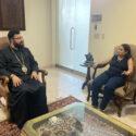 Prelate Welcomed Advisor to the President of Artsakh on Diaspora Affairs