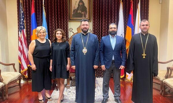 Prelate Welcomes Visit of Director Jivan Avetisyan